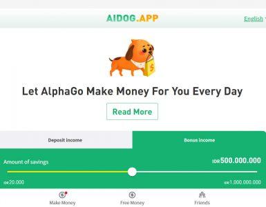 Apakah Aplikasi Aidog, penghasil uang aman atau penipuan?